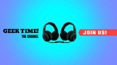 YouTube Banner Maker with Gaming Headphones Picture 407b