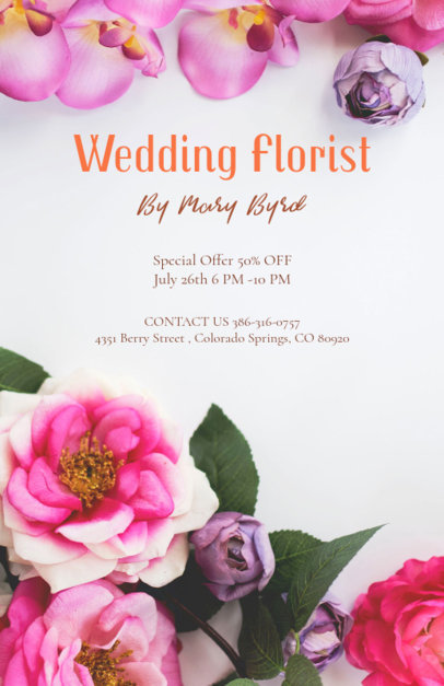 Flyer Maker for Florists 431d