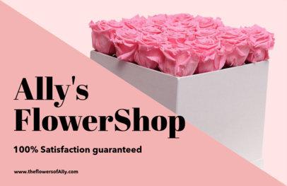 Horizontal Flyer Maker for Flower Shops 425a
