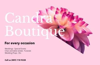 Horizontal Flyer Maker for Floral Boutiques 425d