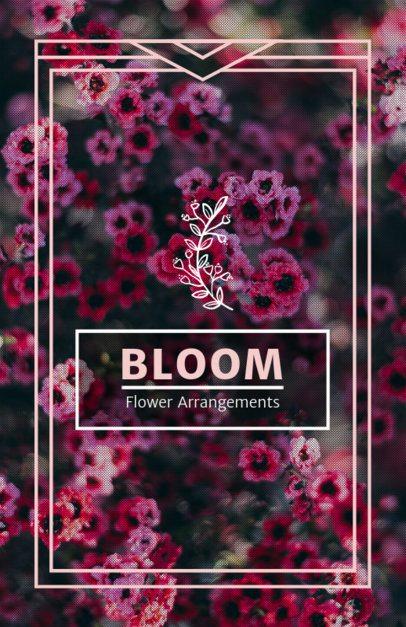 Online Flyer Maker for Flower Shops with Floral Arrangements 440c