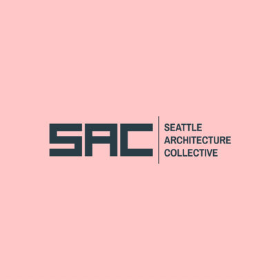 Architecture Firm Logo Maker to Create a Monogram Logo 1321