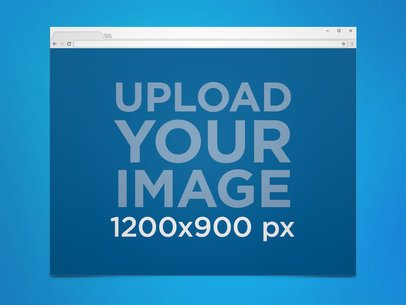 Google Chrome Browser Mockup in a Windows Desktop 21295