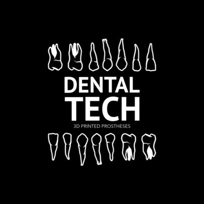 Logo Maker for Dental Clinics with Teeth Graphics 1284a