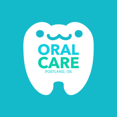 Online Logo Maker for Pediatric Dentists with Smiling Tooth Clipart 1284b