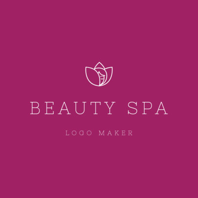 Online Logo Maker for Beauty Spas with Minimalist Design 1293c