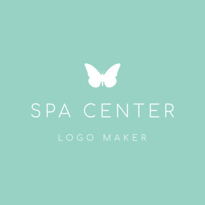 Online Logo Maker for Spas with Butterfly Icon 1293d