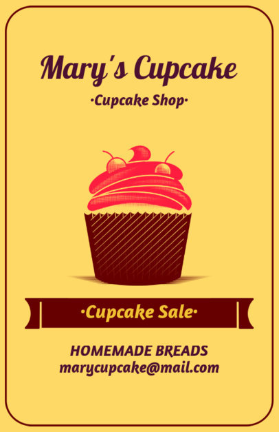Online Flyer Maker for Cupcake Sales 373a