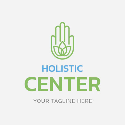 Custom Logo Maker for Holistic Centers with Hamsa Hand Icon