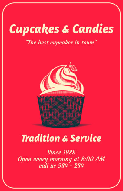 Online Flyer Maker for Cupcake Bakeries 373c
