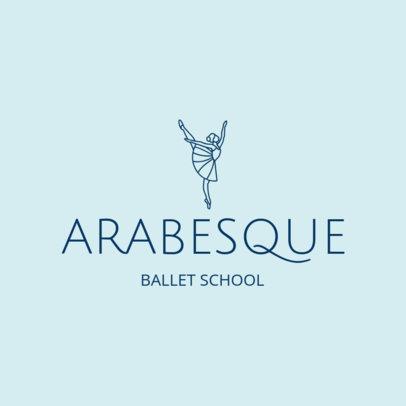 Online Logo Maker for Ballet Schools with Line Art 1300a