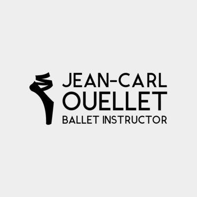 Logo Maker for Ballet Studios with Ballet Shoe Clipart 1300e