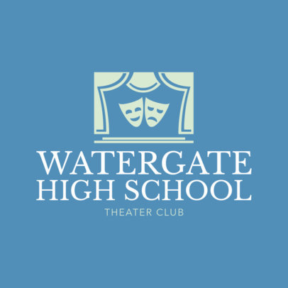 Theater Club Logo Maker 1307a