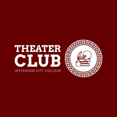 Online Logo Maker for Drama Clubs 1307e