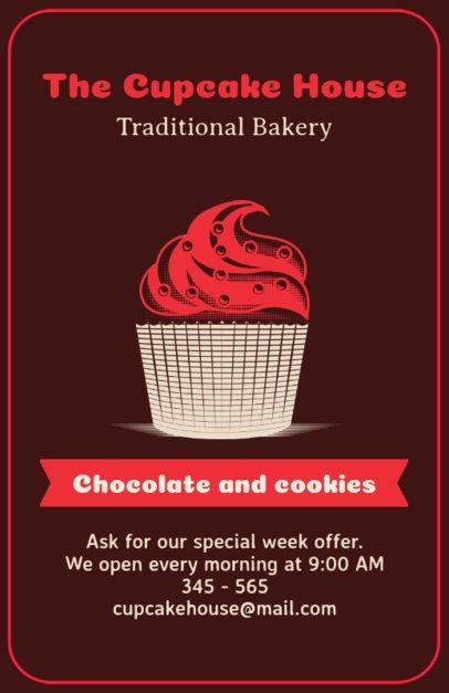 Online Flyer Maker for Cupcake Bakers 373d