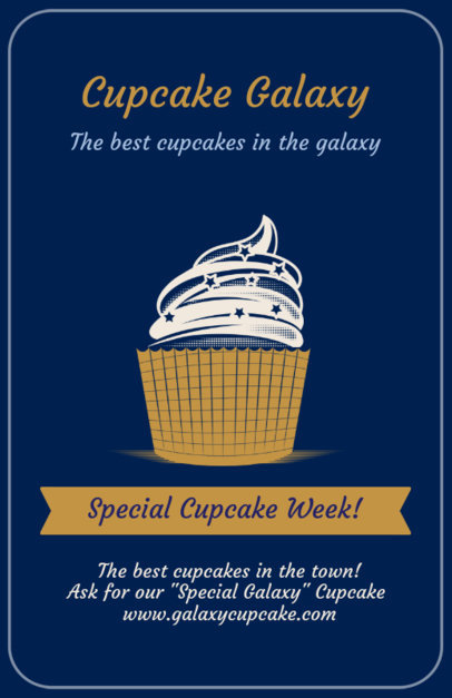 Online Flyer Maker for Gourmet Cupcakes 373e