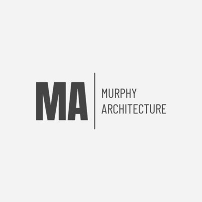 Architecture Firm Logo Maker with Light Gray Background 1321a
