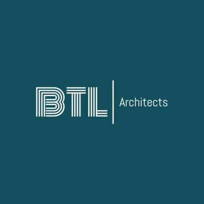 Online Logo Maker for Architecture Firms with Teal Background 1321d