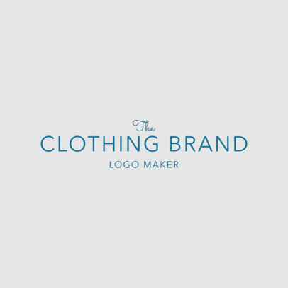 Logo Design Template for Minimalist Clothing Brand 1317