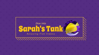 YouTube Channel Art Maker with Fish Images 401d