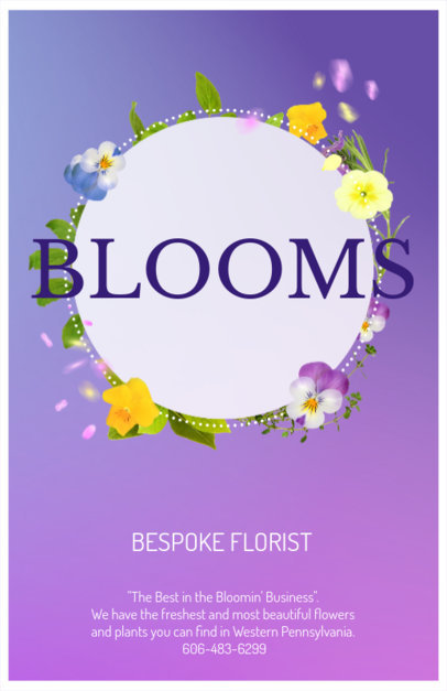 Online Flyer Maker for Florists with Flower Wreath 397b