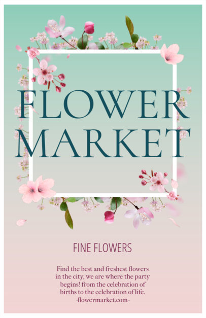Flyer Maker for Flower Markets 397d