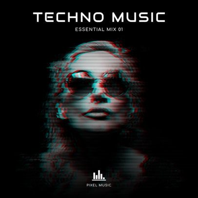 Techno DJ Album Cover Template 473