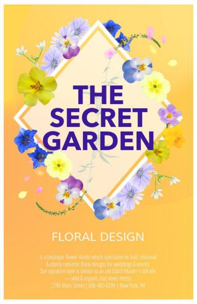 Online Flyer Maker for Florist Shops 397f