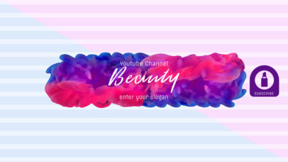 Youtube Beauty Guru Banner Template 451
