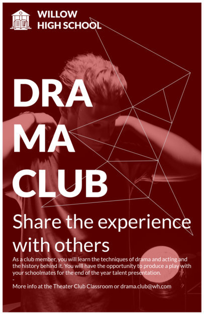 Drama Club Flyer Maker 433