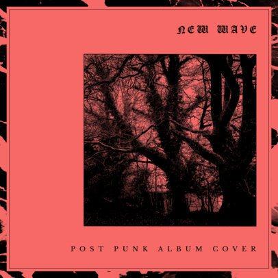Album Cover Design Template for Post-Punk CD 466