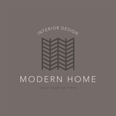 Modern Logo Maker for Interior Designer 1325