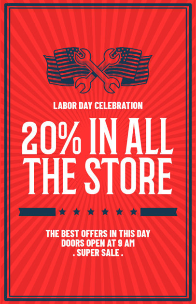 Best Labor Day Sale Flyer Template 429b