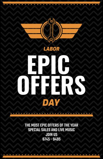Epic Labor Day Sale Flyer Template 429e
