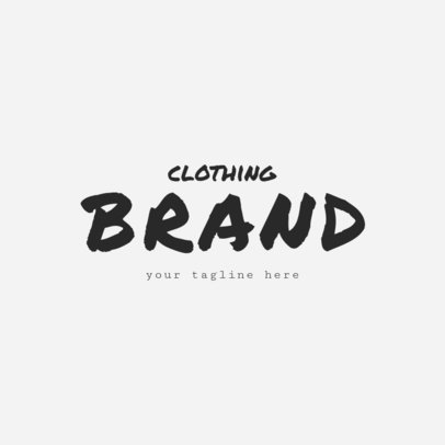 Cool Clothing Brand Logo Design Maker 1317a -