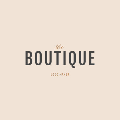 Boutique Clothing Brand Logo Design Maker 1317c -