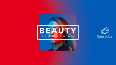 Youtube Channel Banner Template for Beauty Influencer 453