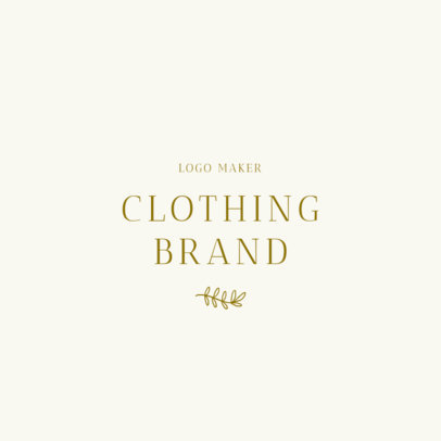 Classic Fashion Brand Logo Template