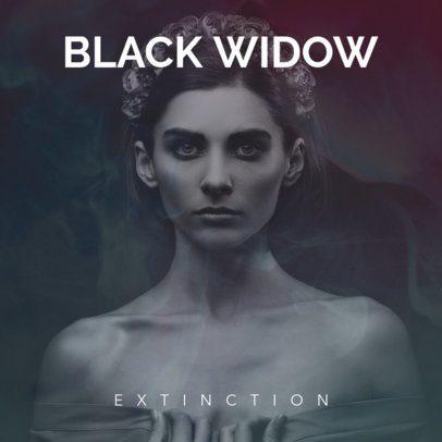 Black Widow Rock Album Cover Template 464a