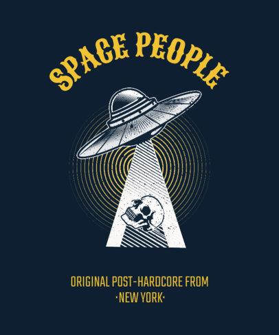 Hardcore Rock Band T-Shirt Design Template 444b