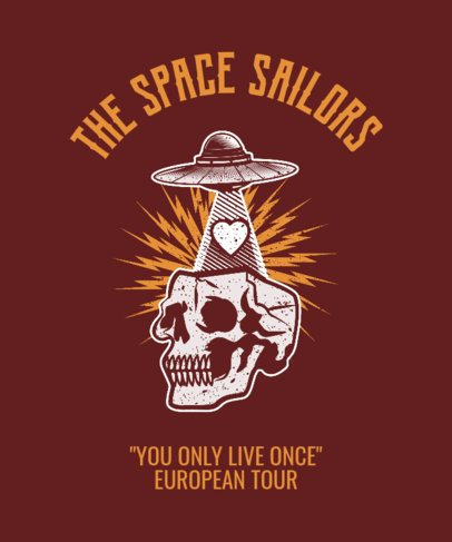 Rock Tour T-Shirt Design Maker 444c
