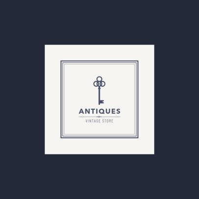 Logo Design Template for Vintage Antiques Store 1319