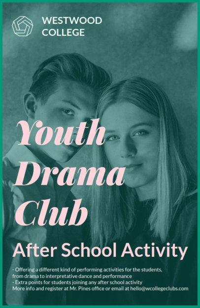 Youth Drama Club Flyer Maker 433c