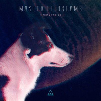 Techno Mix Album Cover Template 473a