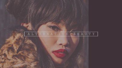 Youtube Banner Design Template for Cool Beauty Vlog 455