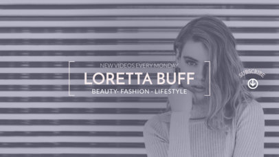 Youtube Channel Banner Design Template for Beauty Lifestyle Vlog 452