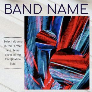 Album Cover Design Template for Alternative Music CD 467