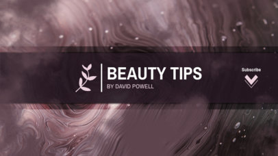 Youtube Beauty Tips Channel Banner Template 449c