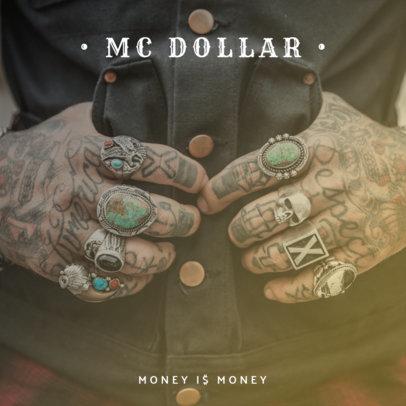 Hip-Hop Money Album Cover Design Template 465b