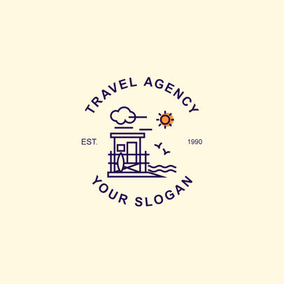 Wilderness Travel Agency Logo Design Maker  1280
